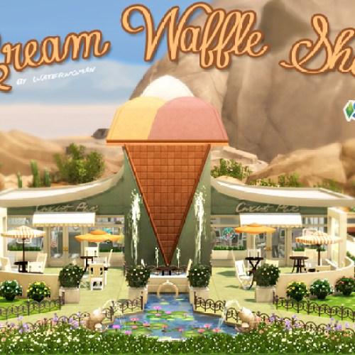 Cream Waffle Shop by Waterwoman