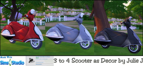 Sims 3 Scooter For Sims 4 As Decor