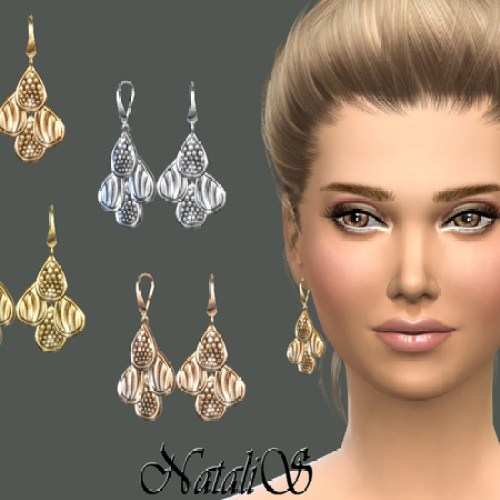 Four drop earrings by NataliS