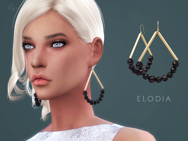 ELODIA Gold-plated Horn Earrings By Starlord