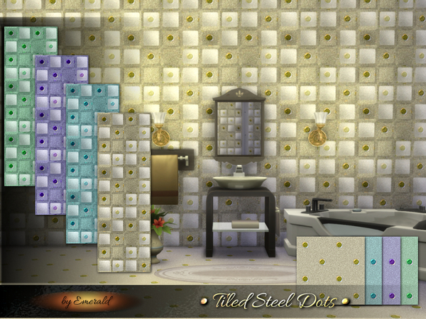 Tiled Steel Dots By Emerald