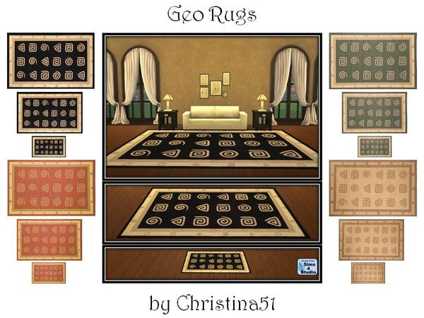 Geo Rug Set By Christina51