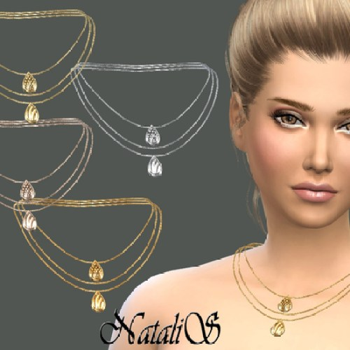 Three layer chain with pendants by NataliS
