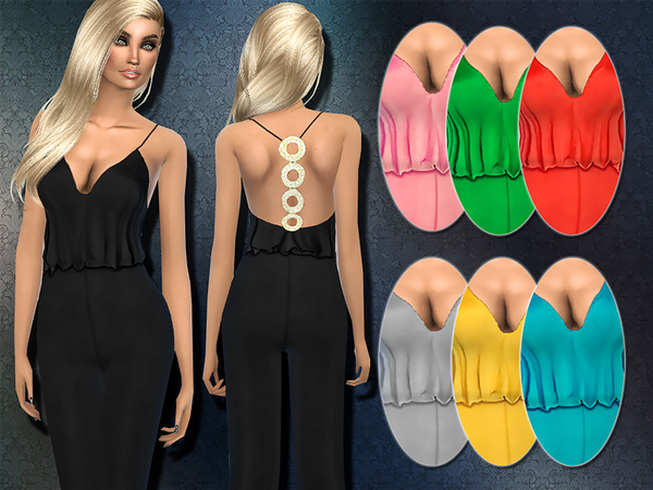 Embellished T-bar Back Silk Jumpsuit By Harmonia