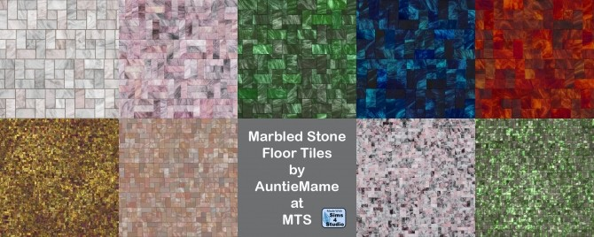 Marbled Stone Tile Flooring By AuntieMame