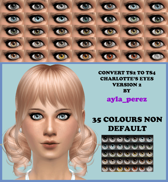 35 Eye Colors Non Default Version 2