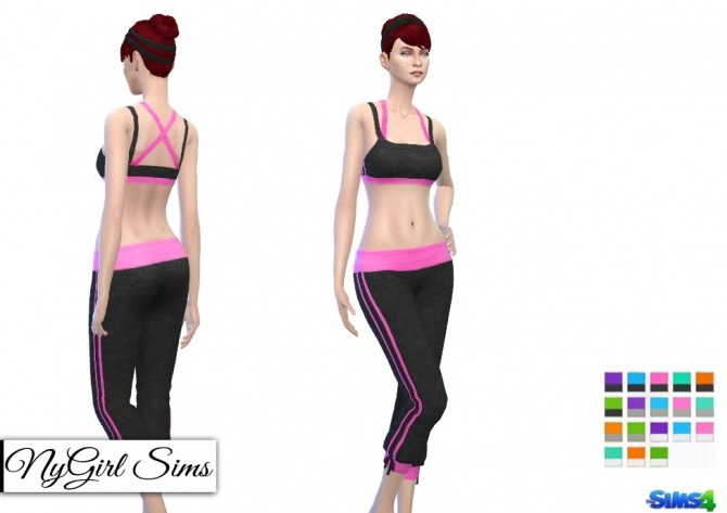 Sport Knit Cropped Sweatpant And Tank Top