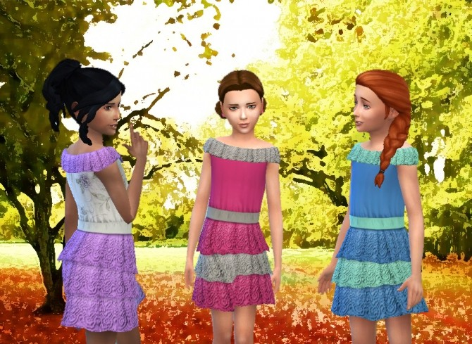 Lacy Frill Dress For Girls