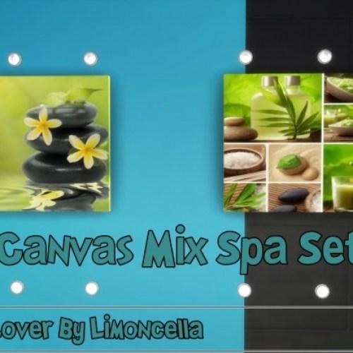 Canvas Mix Spa Set By Limoncella