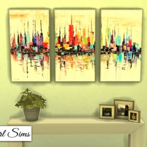 Cityscapes 3 Piece Canvas Art