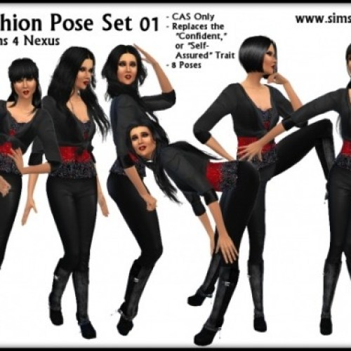 Funky Fashion Pose Set 01