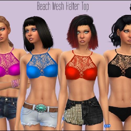 Beach Mesh Halter Top by SimGirlNextDoor
