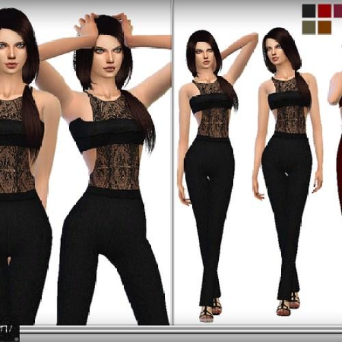 Lace Bandeau Jumpsuit by DarkNighTt
