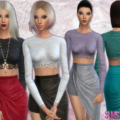 Blouse with lace details by sims2fanbg