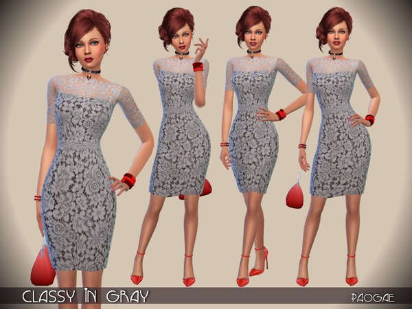 Classy In Gray Dress By Paogae