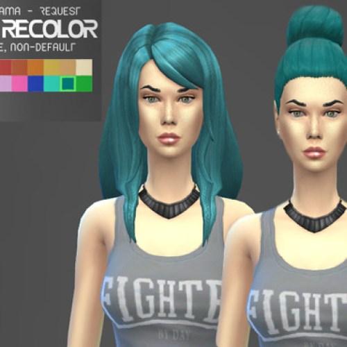 Teal hair recolors