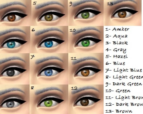 Default replacement eyes for TS4