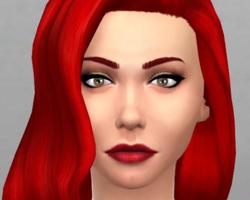 Non-default Dark Red Low Sheen lipstick