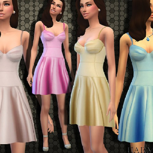 Designer Satin Bustier Dress by Harmonia