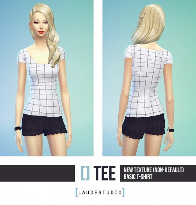 Simple Basic T-shirt With Squares