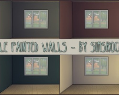 Simple painted walls