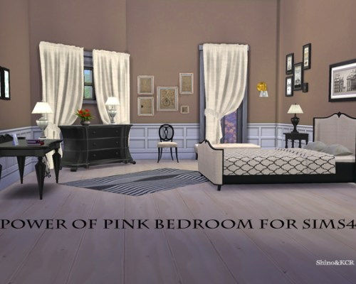 Power of Pink Bedroom by ShinoKCR