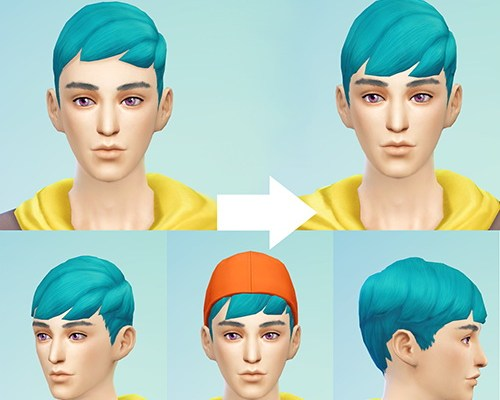 Male Dreamy Crew Hair converted with Longer Bangs
