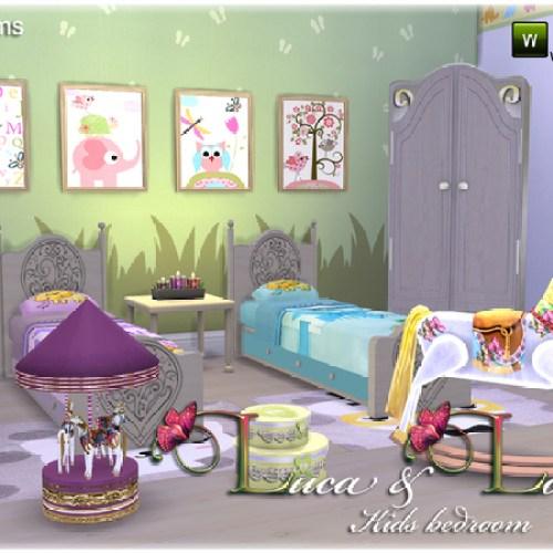 Luca & Lola Kids bedroom by JomSims