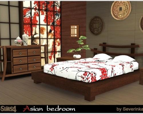 Asian Bedroom by Severinka