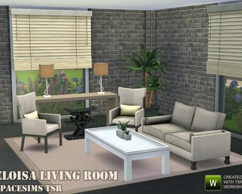 Eloisa living room by spacesims