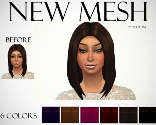 Voluminous Hair Mesh by Puresim
