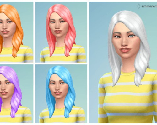 Long Wavy Subtle Hair Recolors by Agnes