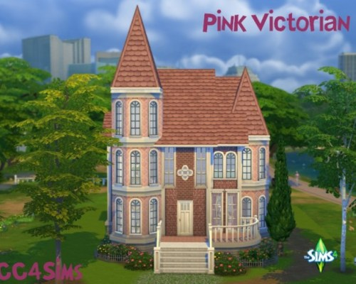 Pink Victorian house by Christine