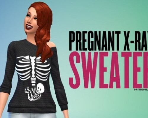 Pregnant X-ray sweater non-default