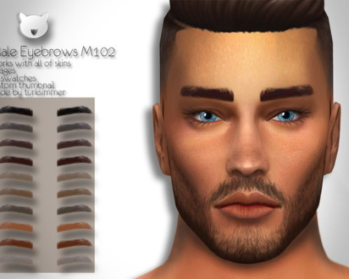 Male Eyebrows M102 by turksimmer
