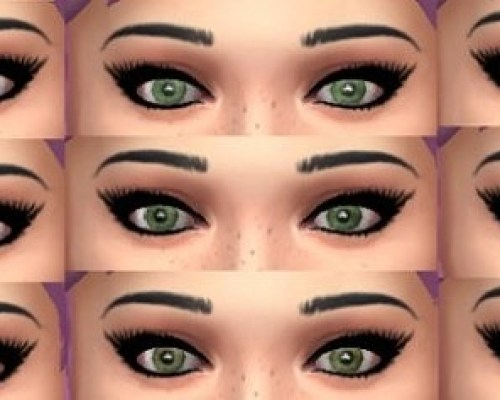 13 default realistic eyes