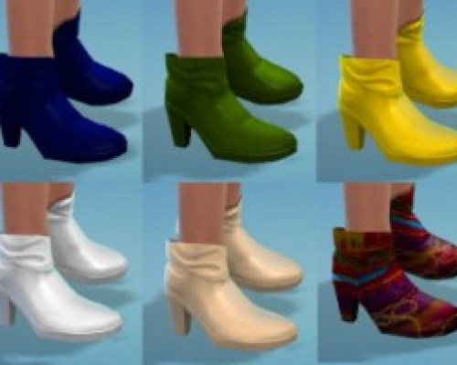 14 Cuffed Ankle Boot Recolors