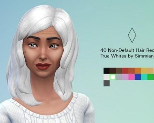 40 Non Default True White Hair Recolors