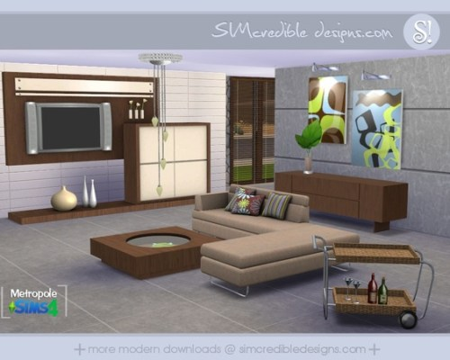Metropole living room by SIMcredible!