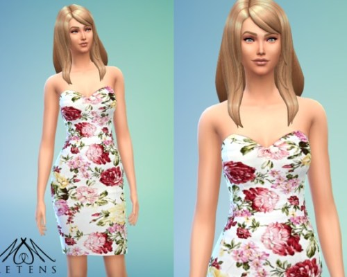 Fleur dress with flowers by Metens at The