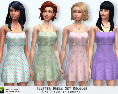 Flutter Dress Set Recolor by simromi at The