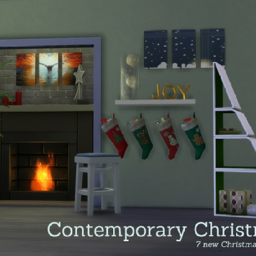 Contemporary Christmas Decorations by Angela