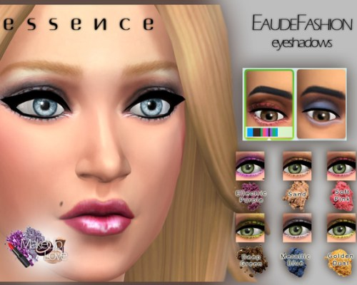 EauDeFashion Eyeshadows by simseviyo at The