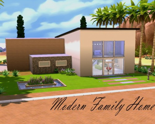 Modern Family Home by HazelSims at The