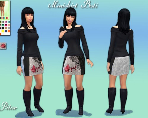 Bali miniskirt by Pilar at The