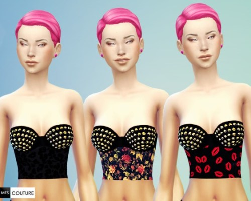 Studded Crop Tops by MissFortune at The