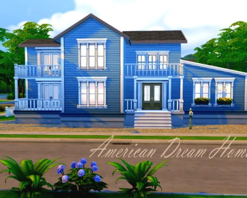 American Dream Home by HazelSims at The