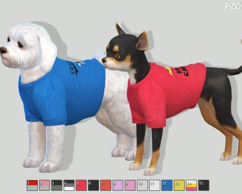 Sporty t-shirts for small dogs by Pinkzombiecupcakes