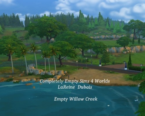 Completely Empty Sims 4 World by LaReineDubois