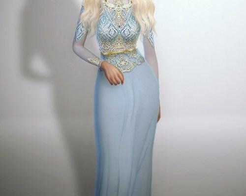 Lightblue Royalty Gown
